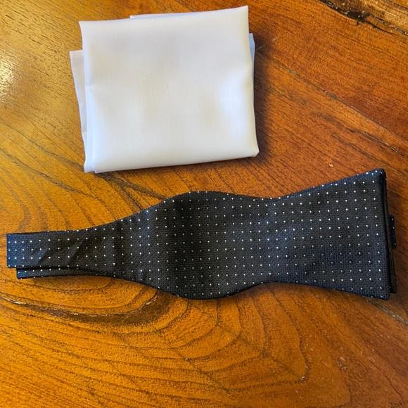 NWT - Michael Kors Bow Tie & Pocket Square Set